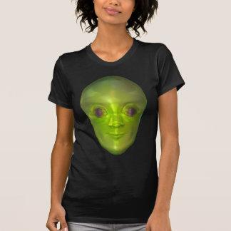 Roswell 3D Alien Head Extraterrestrial Women's Dar Shirts