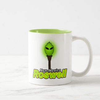 Roswell City New-Mexico Two-Tone Coffee Mug