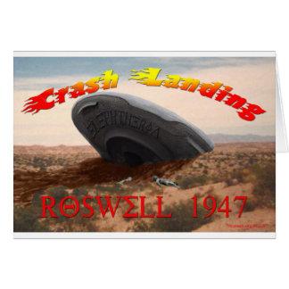 Roswell Crash Landing Card