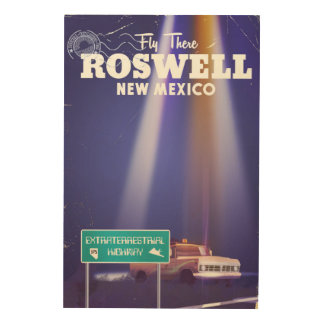 Roswell Extraterrestrial Highway travel poster