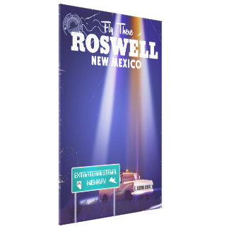 Roswell Extraterrestrial Highway travel poster Canvas Print