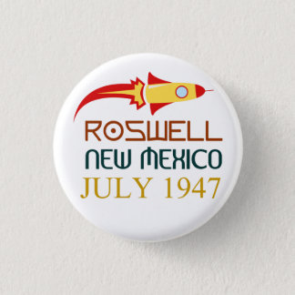 Roswell, New Mexico, july 1947 3 Cm Round Badge