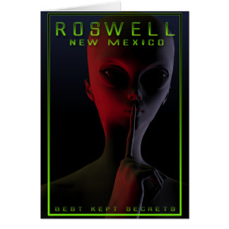 Roswell Travel Poster 2 Card