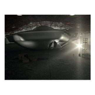 Roswell UFO Hangar Postcard