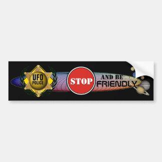 Roswell UFO Police Bumper Sticker