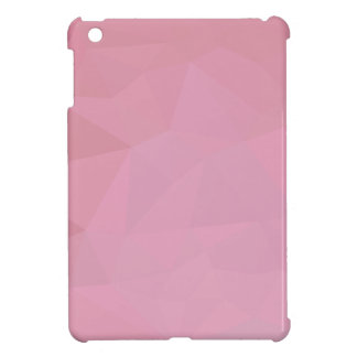 Rosy Brown Abstract Low Polygon Background iPad Mini Case