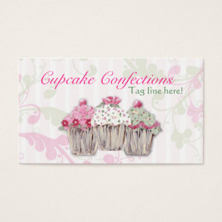 Rosy Cupcake Business Cards
