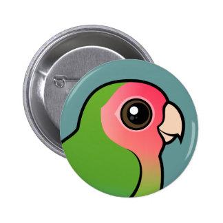 Rosy-faced Lovebird 6 Cm Round Badge