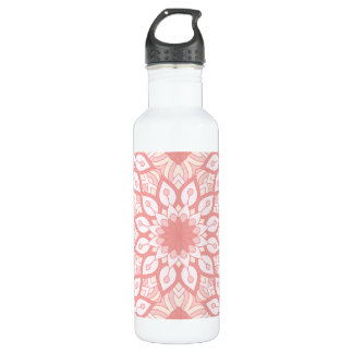 Rosy floral mandala geometric pattern 710 ml water bottle