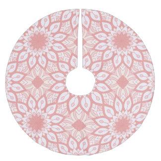 Rosy floral mandala geometric pattern brushed polyester tree skirt