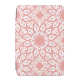 Rosy floral mandala geometric pattern iPad mini cover