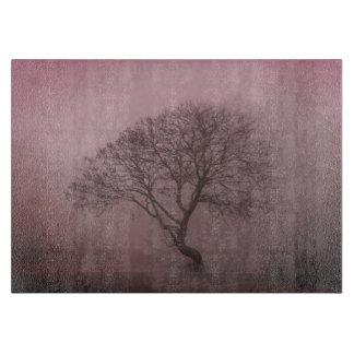 Rosy Foggy Tree Cutting Board