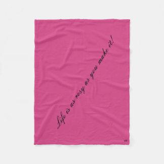 Rosy Life Fleece Blanket