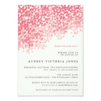 Rosy Pink Light Shower Bridal Shower Invitations
