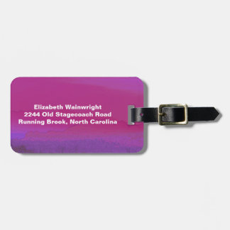 Rosy Sunset Luggage Tag