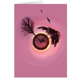 Rosy Sunset Planet Card