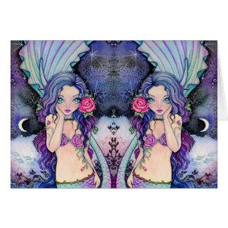 Rosy Twilight - blank card