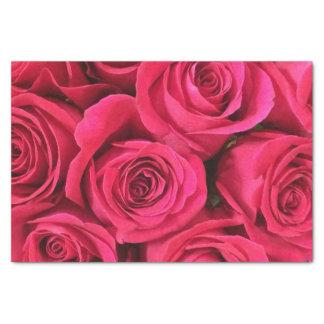 """Rosy Vintage victorian shabby chic deep pink roses 10"""" X 15"""" Tissue Paper"""
