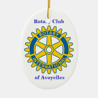 Rotary Club, of Avoyelles Ceramic Ornament