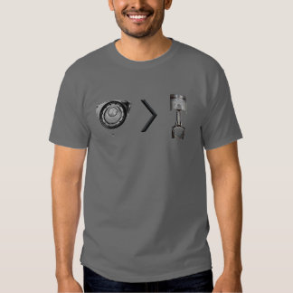 rotary greater then piston engine rx rx8 mazda tee shirts