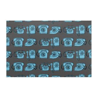 Rotary Phone - Charcoal/Soft Blue / Andrea Lauren Acrylic Print