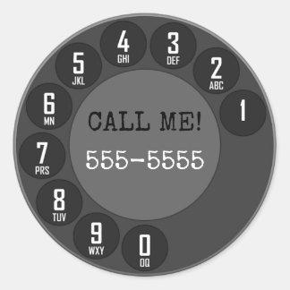 Rotary Phone Classic Round Sticker