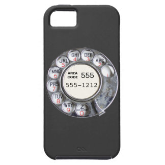 Rotary phone dial with phone number iPhone 5 cover