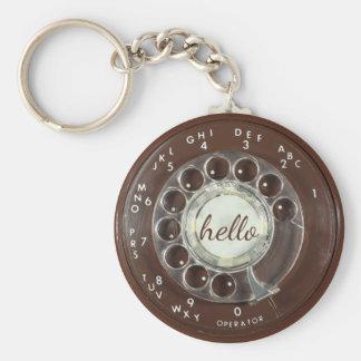 Rotary Phone Look Key Ring