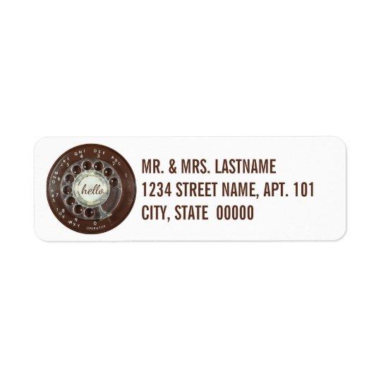 Rotary Phone Look Return Address Label