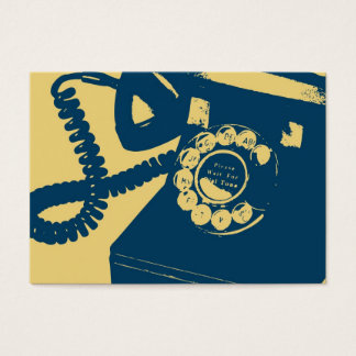 Rotary Telephone Pop Art Business Card