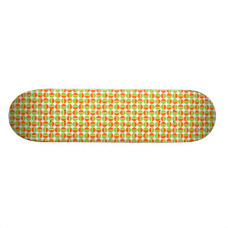 Rotating Circles - Green and Orange 18.1 Cm Old School Skateboard Deck