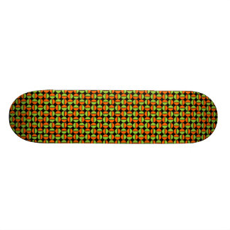 Rotating Circles - Green and Orange on Black 19.7 Cm Skateboard Deck