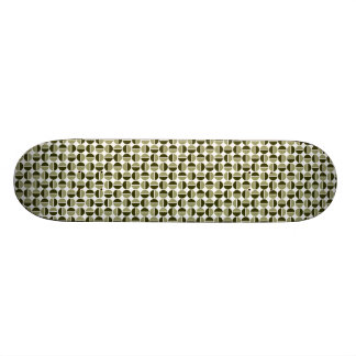 Rotating Circles - Khaki and Dark Olive Skate Board Decks