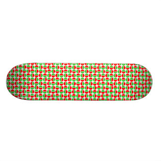Rotating Circles - Red and Green 21.6 Cm Old School Skateboard Deck