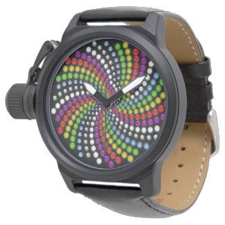 Rotating Digital Modern Art Wristwatches