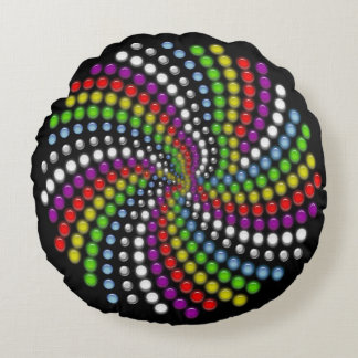 Rotating Modern Digital Art Round Cushion