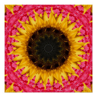Rotating sunflower poster