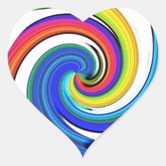 Rotation Heart Sticker