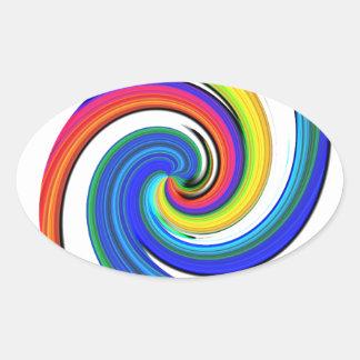 Rotation Oval Sticker