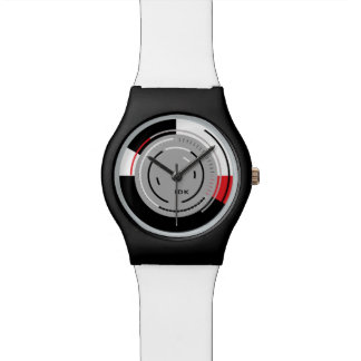 ROTATIONS | black white and red minimalist circles Watches