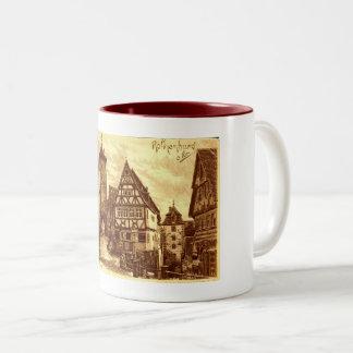 Rothenburg Germany 1907 vintage Two-Tone Coffee Mug