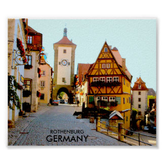 ROTHENBURG, GERMANY POSTER