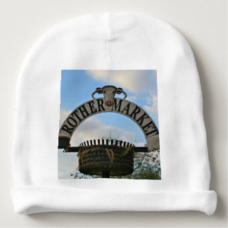 Rother Market sign, Stratford, England Baby Beanie