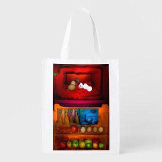 Rothko Refrigerator Reusable Grocery Bag