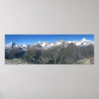 Rothorn panorama, Valais Alps Poster