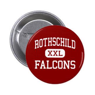 Rothschild - Falcons - Middle - Columbus Georgia 6 Cm Round Badge