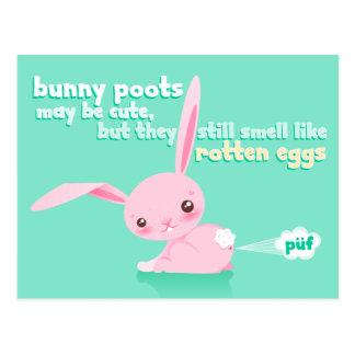 Rotten Eggs - Cute Bunny Poots - Custom Postcard