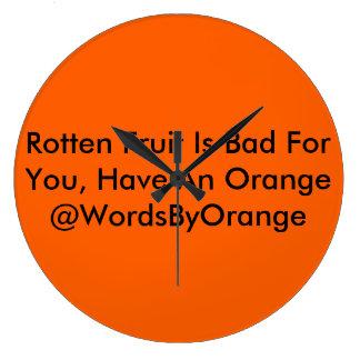 Rotten Fruit Clock