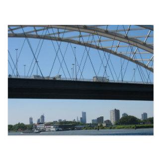 Rotterdam Bridge over River Meuse Photo Postcard