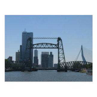 Rotterdam Bridges Meuse River Photo Postcard
